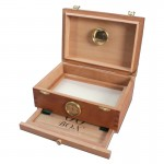 00 Box - Personal Humidor - Spanish Cedar Wood Box with Hygrometer - Small
